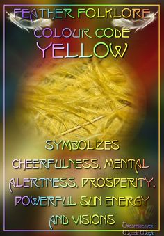 Trend Color Code Book 58 Yellow Feathers Symbolizes cheerfulness