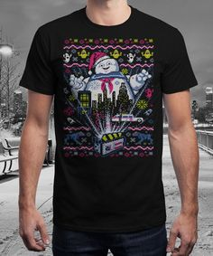 """""""There Is no Santa, Only Zuul!"""" is today's £9/€11/$12 tee for 24 hours only on www.Qwertee.com Pin this for a chance to win a FREE TEE this weekend. Follow us on pinterest.com/qwertee for a second! Thanks:)"""
