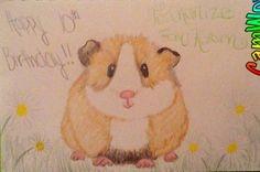 Karann's  guinea pig birthday card for Charlize! Awwwwwwwwwwwwwww