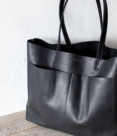 Bag is very roomy and comfortable. Can be used as daily bag, shopper, travel, school bag. My Bags, Purses And Bags, How To Have Style, Black Leather Tote Bag, Leather Purses, Large Black Tote Bag, Biker Leather, Brown Leather Totes, Leather Briefcase