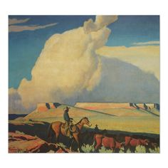 Shop Vintage Cowboys, Open Range by Maynard Dixon Poster created by MasterpieceCafe. Personalize it with photos & text or purchase as is! Maynard Dixon, Framed Artwork, Wall Art, Framed Wall, Wall Decor, Western Landscape, Thing 1, Custom Posters, American Artists