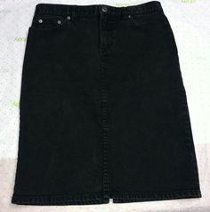 LRL LAUREN JEANS CO. RALPH Lauren Size 4 Black Denim Pencil Skirt EUC | Clothing, Shoes & Accessories, Women's Clothing, Skirts | eBay!