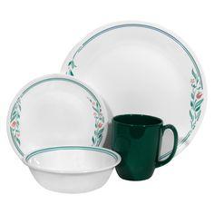 Corelle Livingware 16 Piece Dinnerware Set - Ros... : Target
