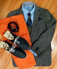 Orange pants are always a win.