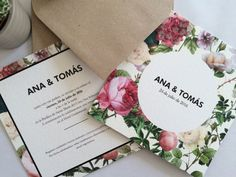 Floral wedding invitations. Printable. by MyMarengo on Etsy