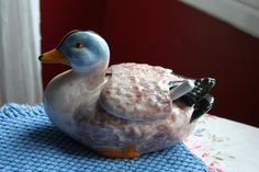 French Vintage Porcelain Wood Duck Sugar by FromParisToProvence, €21.00