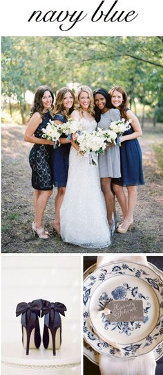 Bridesmaid Dresses: // Bow Heels:  Lacie Hansen Photography // Place Setting: Love Bird Productions