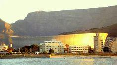 O Cape Town stadiun no pôr-do-sol - arraso!