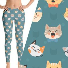 Check Out Our Unique, Bold Leggings & Yoga Pants! Available Exclusively Through WLKR Threads. Click Here Love cats? So do we. These Hipster Cat Leggings & Yoga Pants are the perfect addition to any ca