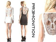 Premonition spine and skull dresses