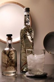 You can make homemade rosemary infused vodka in three days – a great option for easy last minute gifts.