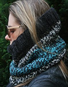 A personal favourite from my Etsy shop https://www.etsy.com/uk/listing/552410783/snood-knitted-snood-head-scarf-hooded
