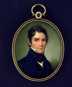 Monthly Miniature John Wood Dodge, Colonel Elijah Rice, watercolor on ivory, Smithsonian American Art Museum, Gift of Mr. John Smith, Victorian Portraits, Miniature Portraits, Miniature Paintings, John Wood, Cute Jewelry, Jewelry Rings, Fall Jewelry, Bridal Jewelry