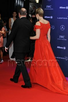 Prince Albert and Princess Charlene attended the 2017 Laureus World Sports Awards in Monaco. Feb. 14, 2017