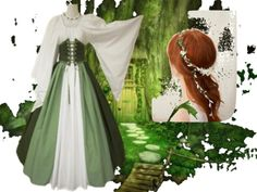 """""""Dreams"""" by missflyrenee on Polyvore  """"I've always wished that my life was like an old movie, and I could don a pretty dress and go wander in the fields and forest like a fairy princess, and then my Prince Charming would gallop in and sweep me onto the back of his mighty steed. Label me as crazy, or odd, or a dreamer, but this is would I would don for that fantasy. Hope you enjoy the medieval twist."""""""