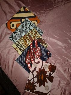 TRADITIONAL AFRICAN PRINTS ,  FAT QUARTERS=5 PC