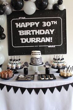 33 ideas birthday surprise party decorations star wars for 2019 Adult Birthday Party, Star Wars Birthday, 40th Birthday Parties, Man Birthday, Birthday Cakes, Birthday Gifts, Husband Birthday, Birthday Party Decorations For Adults, Dessert Table Birthday