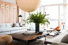 Mixed wood. Great living room.