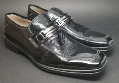 d22ff7216f77a Details about Kenneth Cole Reaction Men's Shoes Loafers Driving Moccasins  Black Leather 10M