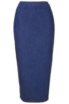 Denim Pencil Skirt - This fashion