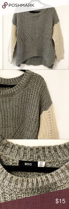 BDG chunky knit cable knit sweater - small BDG urban outfitters chunky knit cable knit sweater. Size small. Urban Outfitters Sweaters Crew & Scoop Necks