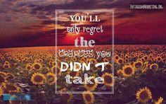 #followme @martinhosner #youonlyregretthechancesyoudidnttake #noregrets #takeachance #takechances #dontregretit #sunflowers #fieldofsunflowers #purplerain #winterishere #motivationalquote #motivationalthursday #motivationalfridays #takealeap #leapoffaith