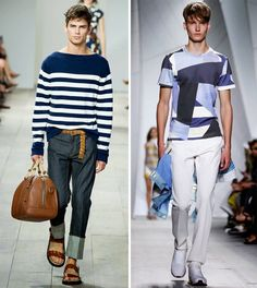 Spring 2015 Mens Fashion Trends: New York Fashion Week Edition - Left: Michael Kors Spring/Summer 2015, Right: Lacoste Spring/Summer 2015