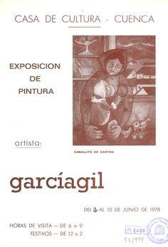 Exposición de Clemente García Gil en la Casa de Cultura de Cuenca Junio 1978