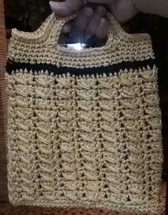 Using a free pattern & Tutorial  from BAG-O-DAY CROCHET & MORE https://www.youtube.com/channel/UCIVgwNInFTcstc0cILr5Kpg How to #Crochet Handbag crochet ribbon Purse #Tutorial #179