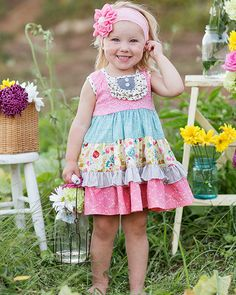 Giggle Moon Singing Praises Party Dress for Girls PREORDER