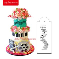 Musical Notes Border Cake Stencil Cake Side Stencil  Cake Decorating Tools Wall Decorating Stencil Baking Accessories ST-414