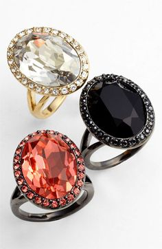 Givenchy Rock Crystal Cocktail Rings. LOVE!
