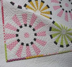 """Finally! I made it for my 25 year old niece, Andrada. She loves pink. The dot fabrics are from the Ta Dot collection by Michael Miller. I can't wait to find out what she thinks about it… What could I say about it ? """"Heavy quilting"""" is my name! Even tough at first I thought …"""