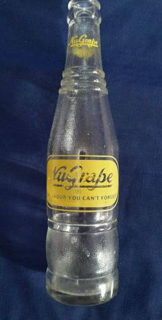 "Scarce Canadian Toronto Ontario ""Nu Grape"" 10 oz Clear Pop Bottle Yellow s 2 | eBay"