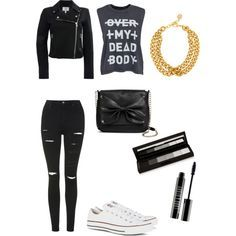 Effy stonem Outfit 1 by littlekittycatt on Polyvore featuring Cheap Monday, Topshop, Converse, Sam & Libby, Ben-Amun, shu uemura and Lord & Berry