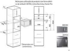 Projeto de armario para forno e microondas torre pesquisa google kitchen pinterest - Microondas de encastrar ...