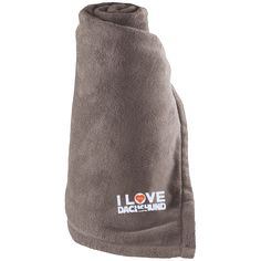 I Love My Dachshund - Large Fleece Blanket