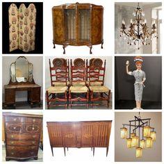 Online Estate Sales, Metal Lanterns, Ceramic Figures, Barbie Collection, Glass Ceramic, Kitchen Chairs, Collector Dolls, Farmhouse Table, Rattan