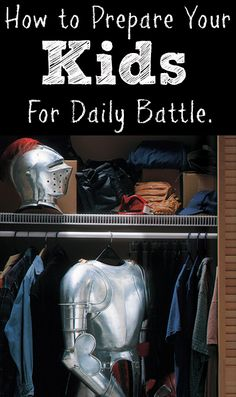 "Learn from a Christian mom How To Prepare Your Kids for Daily Battle by Armoring Up every day. Learn what she does with her family to help them prepare for the day. {Love the idea of texing ""Armored up"" to family members}"