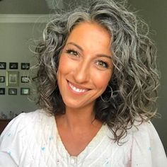 10 Women Embracing Their Silver Curly Hair That are Redefining Natural Hair - Hair Styles Thick Curly Hair, Curly Hair Cuts, Curly Hair Styles, Natural Hair Styles, Curly Silver Hair, Curly Short, Curly Girl, Curly Bob, Frontal Hairstyles