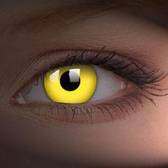 freaky yellow contact lenses.