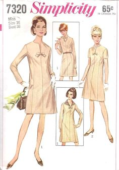 1960s Princess Cut Dress Vintage Sewing Pattern by MissBettysAttic, $8.00