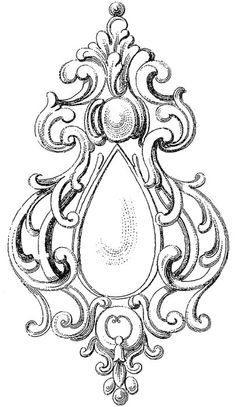 Great free clipart, png, silhouette, coloring pages and drawings that you can use everywhere. Victorian Pattern, Victorian Design, Tattoo Painting, Motif Arabesque, Geniale Tattoos, Carving Designs, Wow Art, Leather Pattern, Vintage Labels