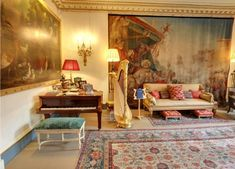 A new virtual tour of Prince Charles' London residence gives fans a rare glimpse into royal life Prince Charles Sons, King William Iv, Clarence House, Royal Residence, Royal Life, Small Dining, Story House, Upholstered Furniture, British