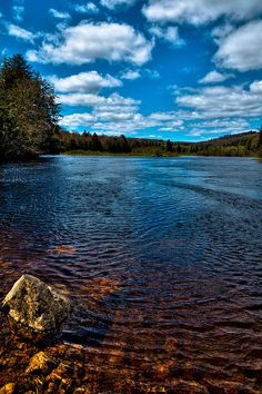#ADK #Adirondacks #OldForge - The Moose River in the Spring - Old Forge, New York