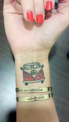 My tattoo volkswagen t1 van bullie kombi aircooled vw