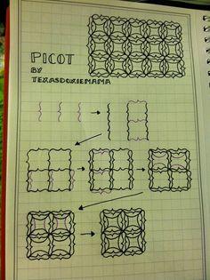 picot tangle pattern