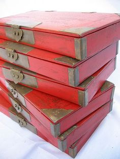 book-shaped boxes