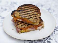 Ham, mustard and Red Leicester cheese toastie