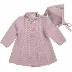 Baby Girl Vest, Baby Girl Jackets, Baby Girl Dresses, Baby Girls, Baby Baby, Crochet Toddler Dress, Crochet Dress Girl, Crochet Baby Jacket, Baby Cardigan
